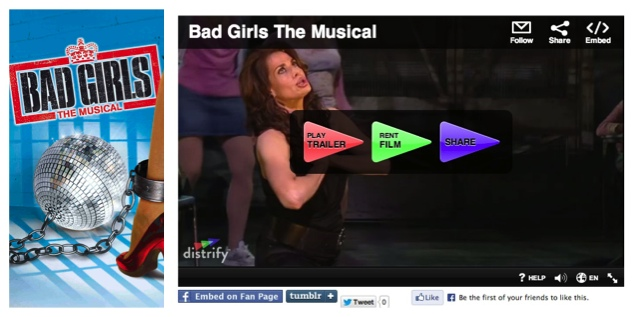 Bad Girls The Musical is now available for online video rental