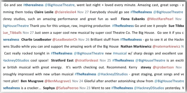 The Realness - Audience Responses on Twitter